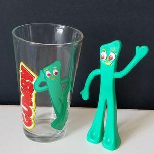 Gumby Pint Glass & Posable Figurine
